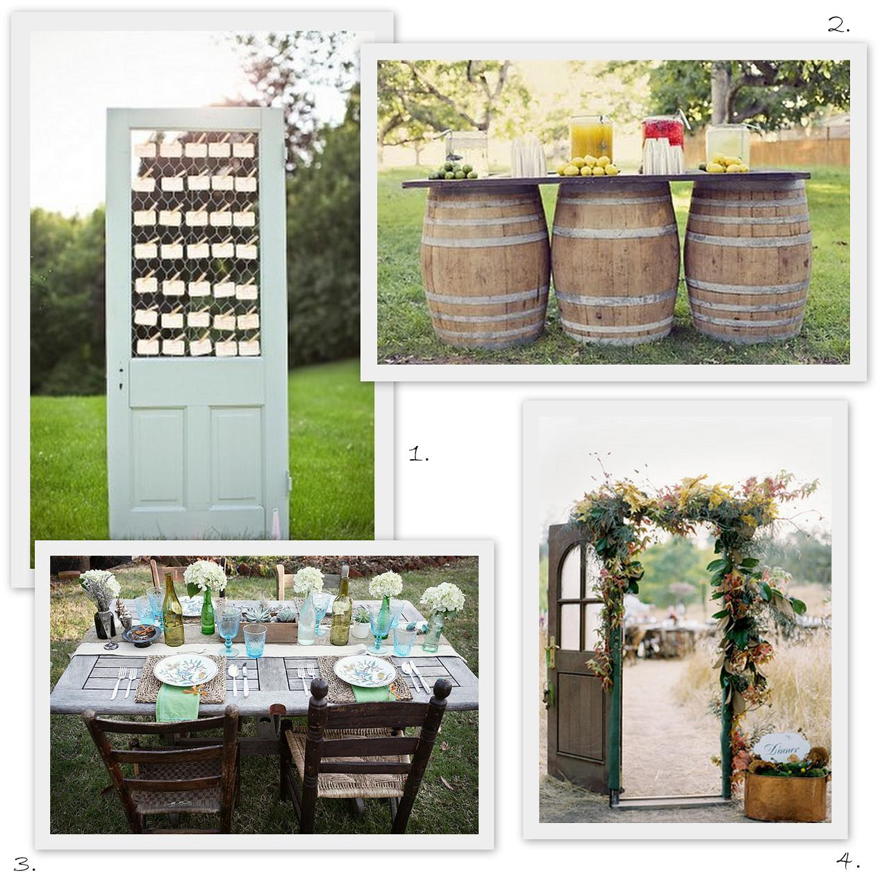 Vintage Backyard Decor : postcards and pretties {friday faves} old doors