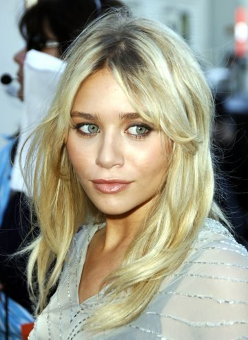 Long with longer bangs, with layers. Ashley Olsen's Hair Style: long hair