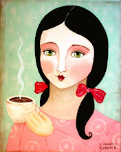 Lady drinking coffee