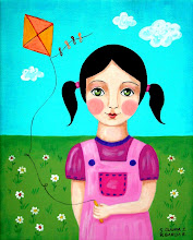 Girl with her Kite