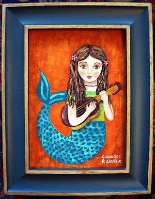 Mermaid with Guitar