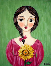 Girl wtih Sunflower