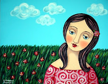 Girl in Flowers Field