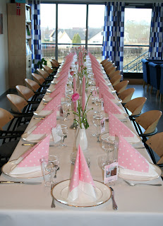 Dåpsbord rosa