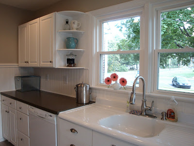 Remodelaholic Kitchen Backsplash Tiles Now Beadboard