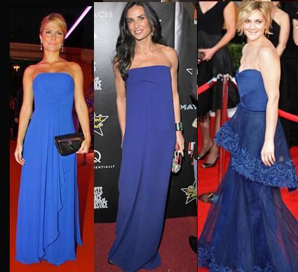 Sandalia para vestido azul royal