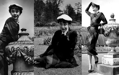 Site Blogspot  Audrey Hepburn Hairstyles on Gorgeous Gamine Audrey Hepburn Poses For Some Early Fashion Shots With