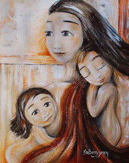 motherhood painting: I Can See Clearly Now