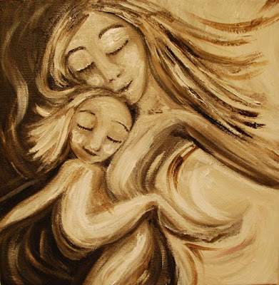 motherhood painting in progress