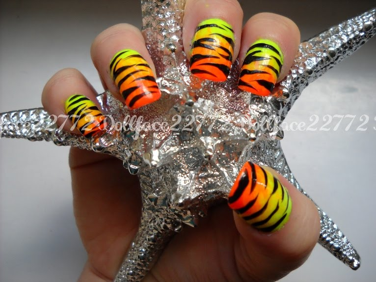 The Charming Neon nail designs yellow Digital Photography
