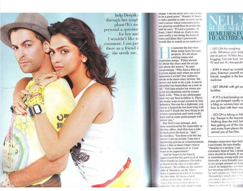 Neil Nitin Mukesh and Deepika Padukone new Filmfare ...