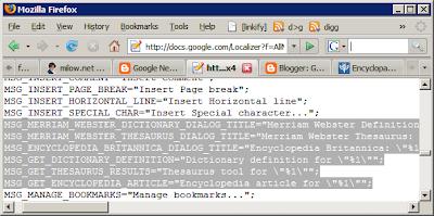 Google Docs中的Encyclopedia Britannica(大英百科全书)代码