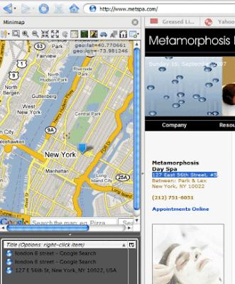 Mini Map Sidebar Firefox extension(在侧边栏显示Google Maps并实现众多应用的Firefox扩展)