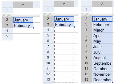 Google Spreadsheets Auto Fill(Google 表格的自动填充功能)