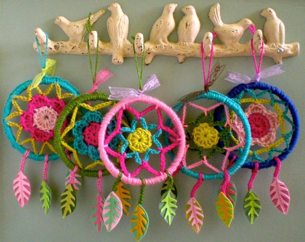 Crochet Patterns Dreamcatchers : flowers and home: dreamcatchers