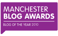 Joint Winner at Manchester Blog Awards 2010