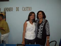 Presidente da Câmara Evania e Prefeita Chica do PT.