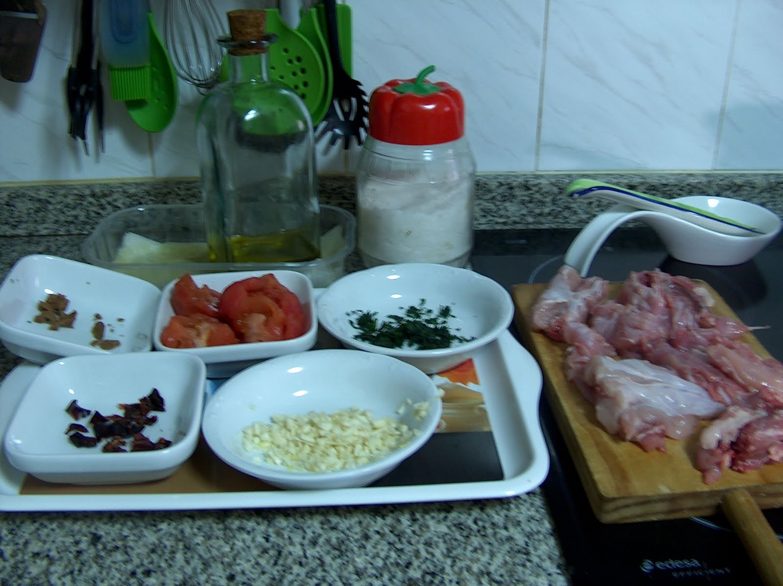 Solo yo: Caldo de conejo (preparado para arroz).