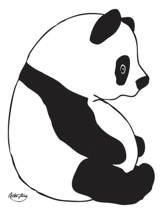 fat black and white panda