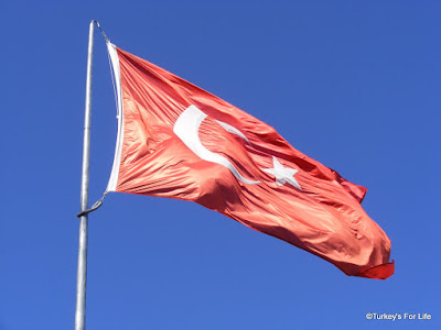Turkish flag in Dalyan
