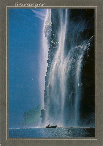 waterfall in Geirangerfjord, Geiranger Fjord, Norway