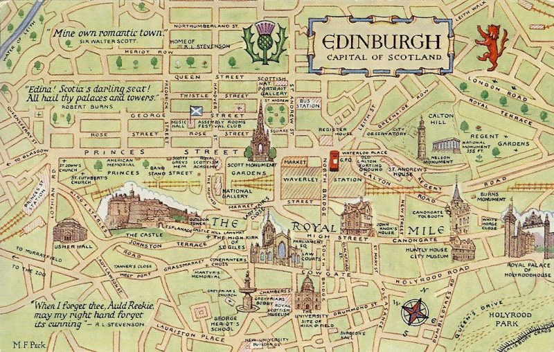 A Postcard a Day A week of maps 3 Edinburgh