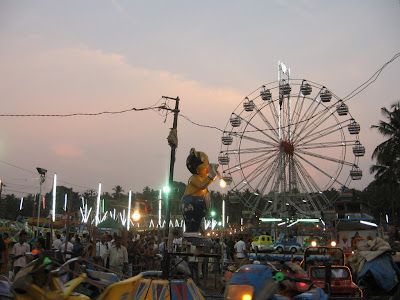 Entertainment stalls at Festival