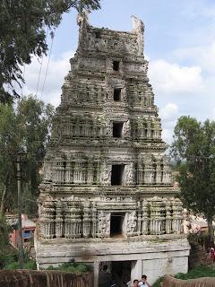 One of the Gopuras at Shivagange near Bangalore