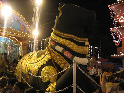 Statue of Lord Nandi at Kudroli, Mangalore