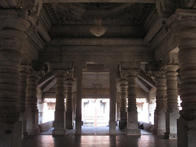 Inside Thousand Pillar Temple, Moodabidri