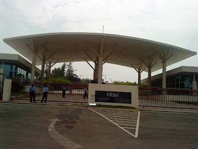 At the entrance of Infosys, Konaje, Mangalore