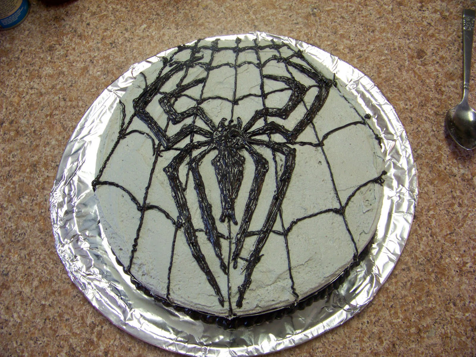 Black spiderman cakes - photo#12