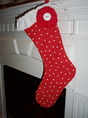 christmas gifts:  ruffle stocking tutorial