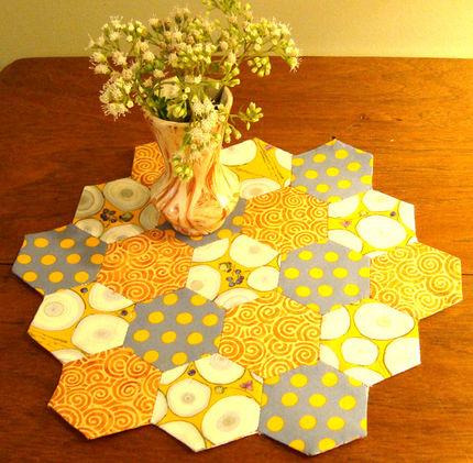 Half Hexagon Quilt Tutorial