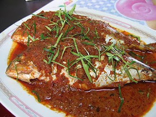 Mackerel fish topped mild spice curry paste