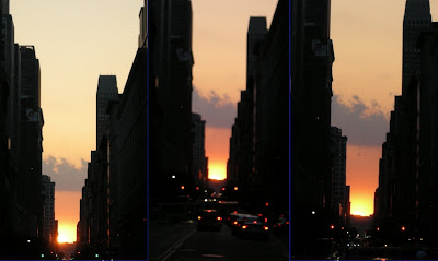 Manhattanhenge 2007 sequence