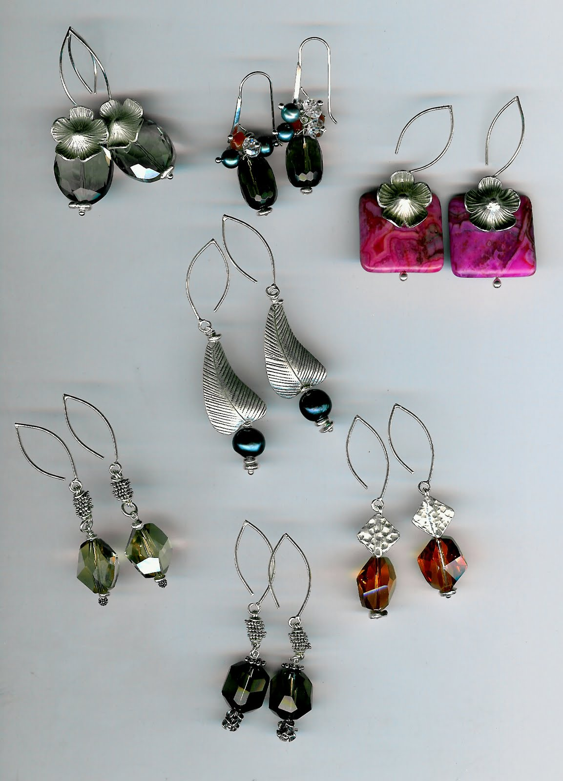 199. Crystals, Smokey Topaz, Pink Jasper, Akoya Pearls with Karen Hill Thai or Bali Sterling Silver