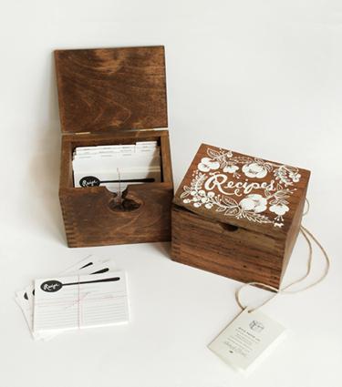 dessert girl heirloom recipe card box