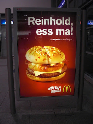 McDonalds Advertisement 'Reinhold, Ess Ma!'