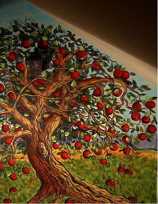 Kim becherer fairy tale mural for Apple tree mural