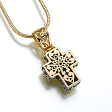 Gold Vermeil Filigree Cross keepsake