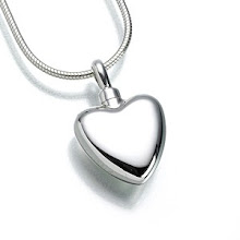 Solid Silver Polished Heart keepsake