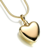 Gold Vermeil Polished Heart keepsake