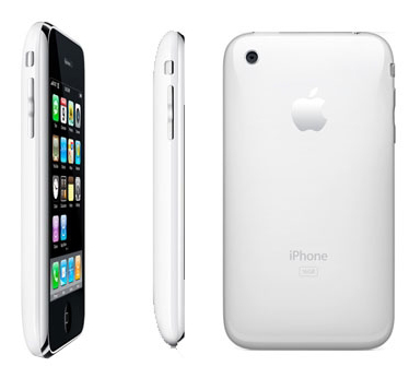 white iphone. white iphone 3gs