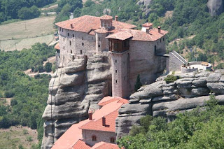 Amazing Meteora monastery in Greece
