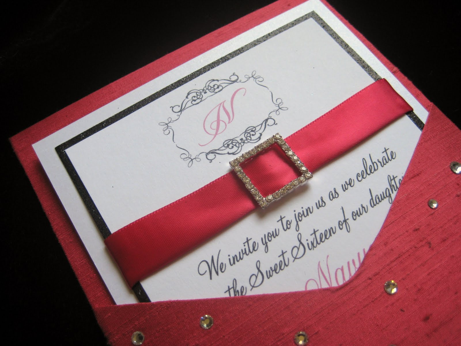 Revelry Invitation Studio Chatter Diamonds Are a Girls Best Friend