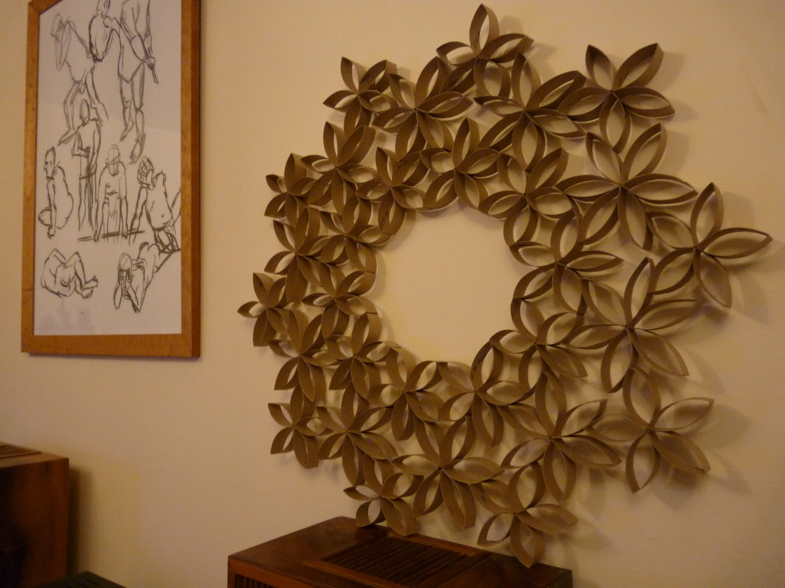 Noisy pitta recycle used toilet roll tubes into gorgeous Wall art paper designs