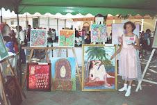 Ana Lucia expone sus primeras obras en Cojutepeque