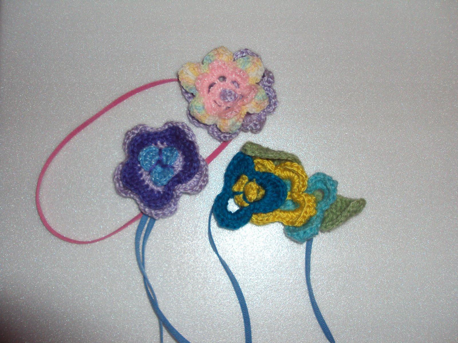 Son todos Cintillos en Tejidos Crochet para niñas o adultos, muy ...