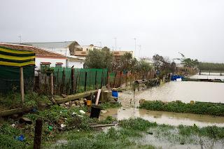 Viviendas inundadas en El Portal